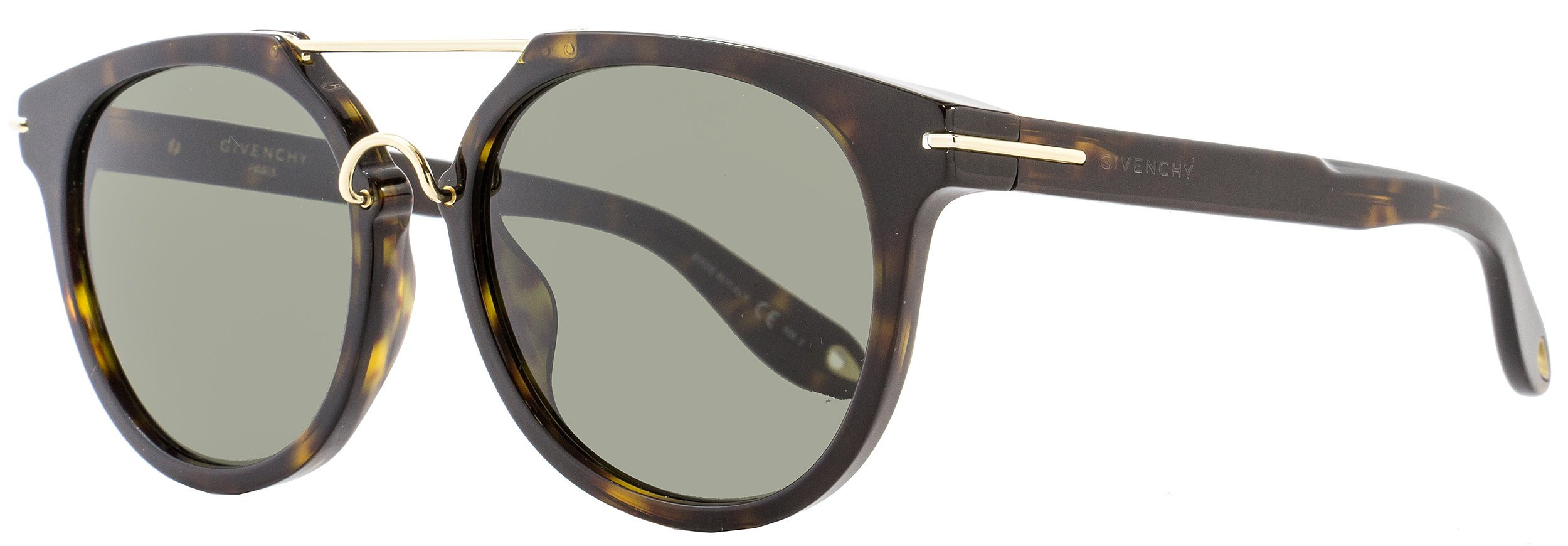 Givenchy Women's Round Aviator Sunglasses, Dark Havana/Brown, One Size