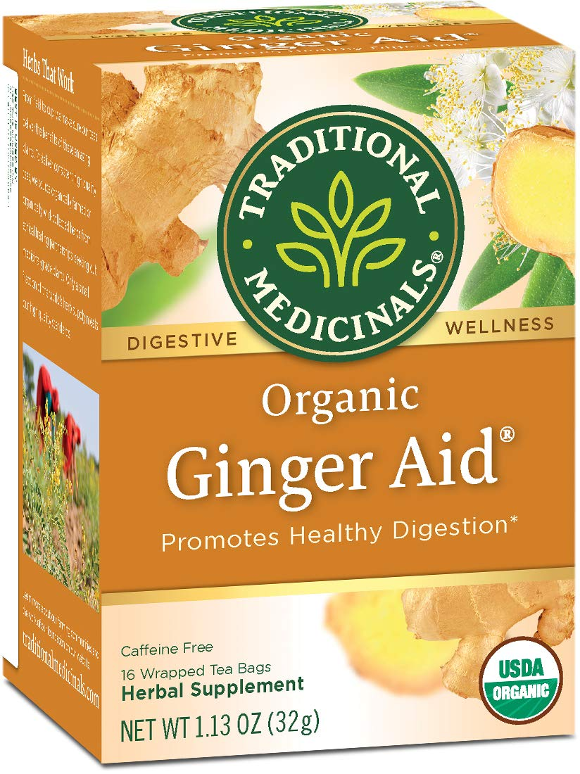 Traditional Medicinals Organic Ginger Aid Digestive Tea, 16 Tea Bags (Pack of 6) by Traditional Medicinals
