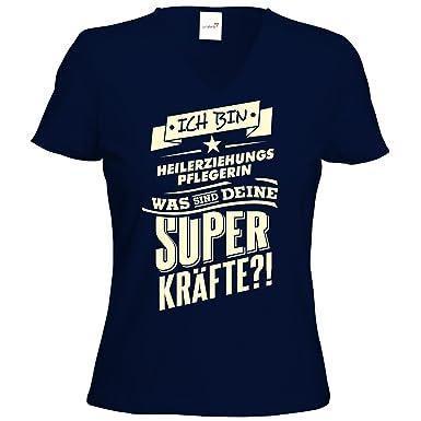 getshirts - RAHMENLOS® Geschenke - T-Shirt Damen V-Neck - Superkraefte -