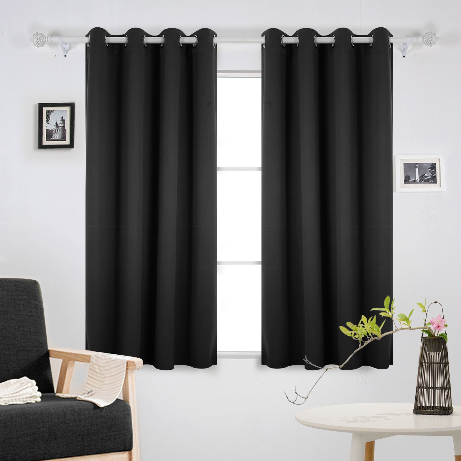 Black bedroom curtains for Super insulated windows