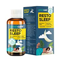 [Apply coupon] GREENCURE Relax and Sleep Faster and Better, Melatonin Hormone Free, German Science with Indian Ayurveda Resto-Sleep Herbal Sleep Aid Syrup with Lemon Balm and Valerian Root, 100ml