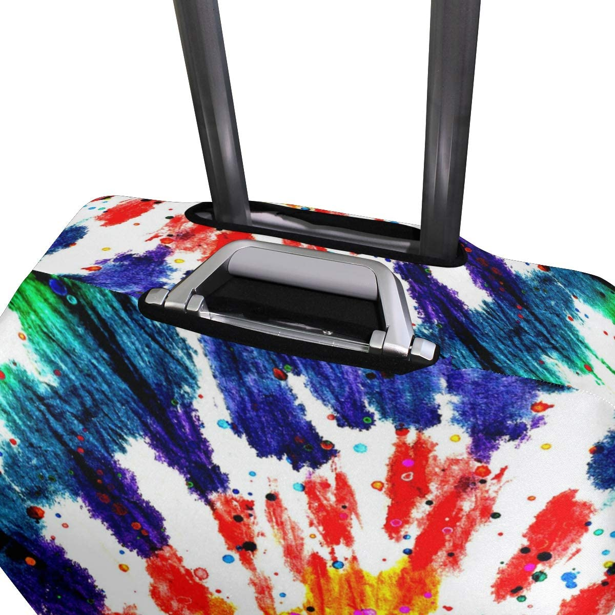 Travel Fits 26-28 Inch Abstract Rotating Rainbow Luggage Cover Suitcase Protector Elastic Zip