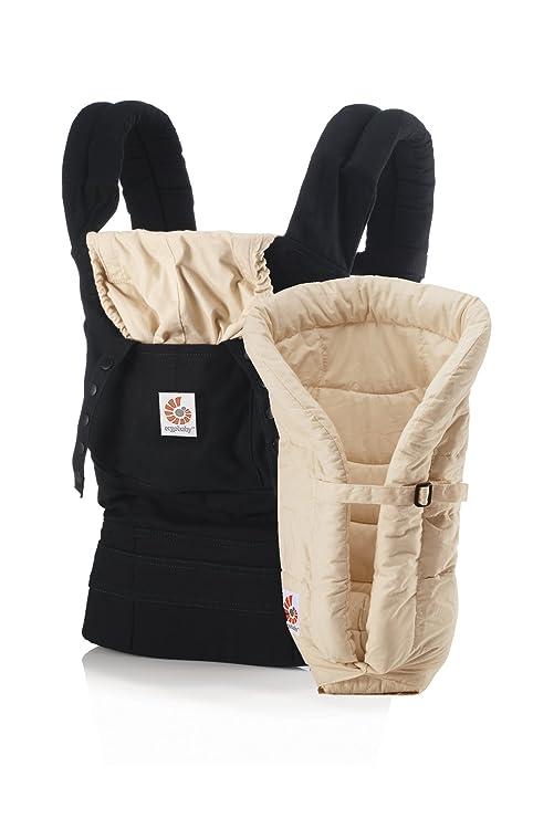 ERGObaby - Pack Evolutivo Original Ergobaby: Portabebé + Cojín bebé negro/camel