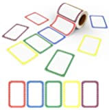 """Name Tag Stickers,5 Colors Adhesive Name Tag Labels, 500 Stickers 3.5"""" x 2.25"""" Plain Tags for You Can Use it Wherever a…"""