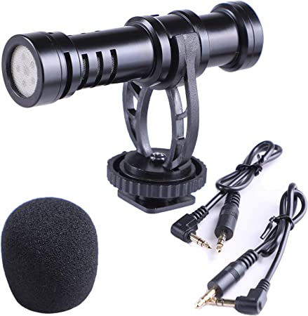 Todo para el streamer: Nicama SGM6 Mini Micrófono Universal para Grabación vídeo iPhone iPad Mac Smartphone Youtube/ENTREVISTA/Conferencia/Podcast, DSLR Canon Nikon Sony Réflex Digitales Videocámaras Cámaras de Vídeo