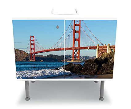 Wandmotiv24 Armoire De Toilette Golden Gate Bridge Coller