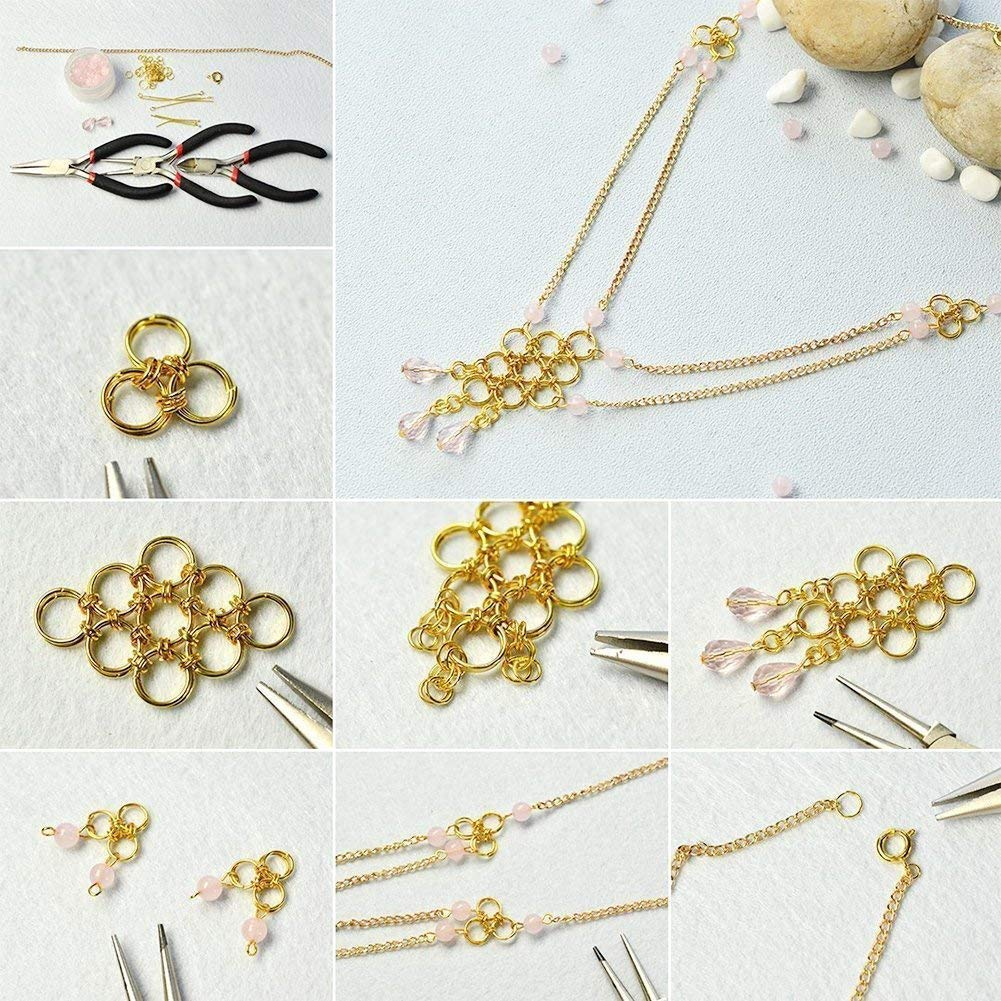 PandaHall Elite About 1745 Pcs Iron Open Jump Rings O Ring Diameter 4mm 5mm 6mm 7mm 8mm 10mm for Jewelry Findings Golden