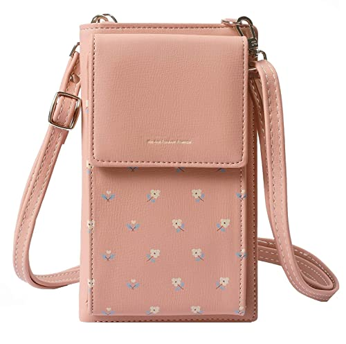 ec2e50c57609 MOCA PrettyZys Girls Women Women s Mobile Cell Phone Holder Pocket Wallet  Hand Purse Clutch Crossbody Sling Bag with Mobile Cell Phone Wallet for  Women ...