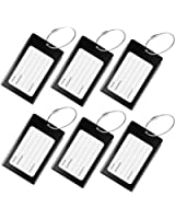 Luggage Tags, WeBravery Suitcase Labels Business Card Holder Travel Bag ID Metal Luggage Tag
