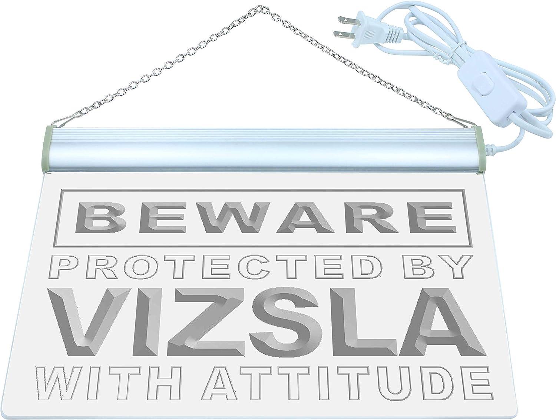 ADVPRO Beware Vizsla LED Neon Sign White 24 x 16 Inches st4s64-m531-w