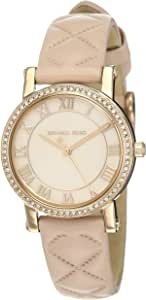 Michael Kors Women's Pink Dial Leather Band Watch - MK2683