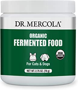Dr. Mercola Organic Fermented Food for Cats & Dogs, 2.75 oz. per Container (78g), Non GMO, Gluten Free, Soy Free, USDA Organic