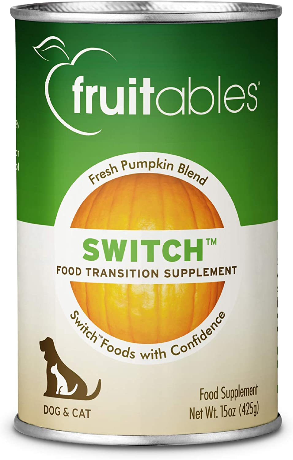 Fruitables Weight Loss Supplement for Dogs and Cats | Pumpkin and Oatmeal SuperBlend Food Supplement