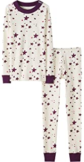 Pack of 2 Moon and Back by Hanna Andersson Unisex Kids 2 Piece Long Sleeve Pajama Set