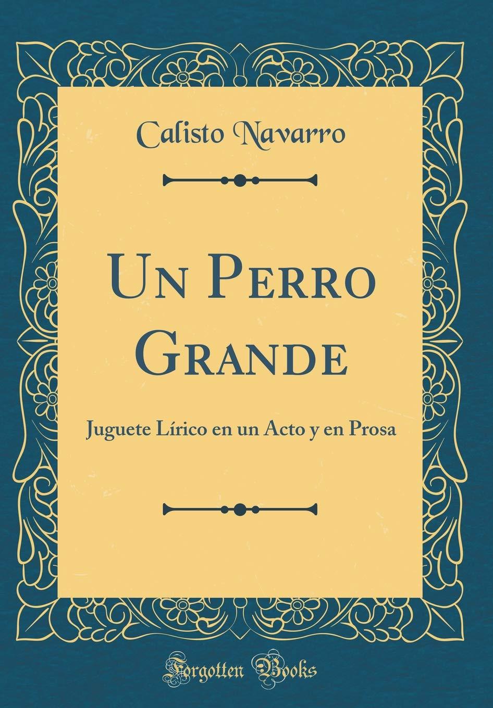 Un Perro Grande: Juguete Lírico En Un Acto Y En Prosa (Classic Reprint) (Spanish Edition) (Spanish) Hardcover – September 7, 2018