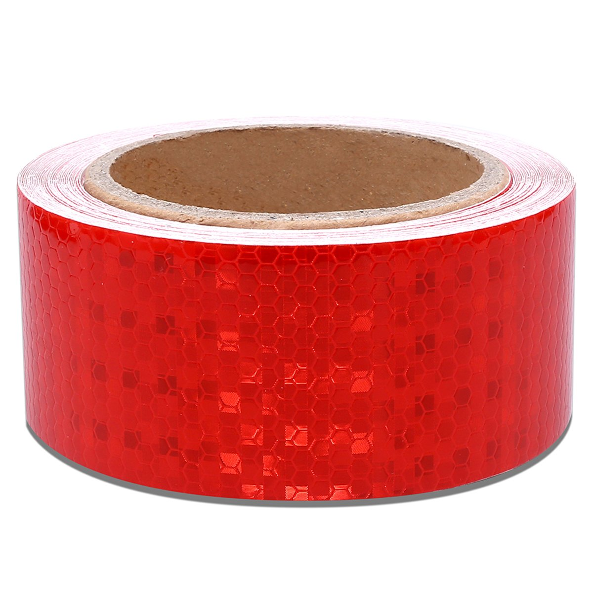 2'' X 30 Feet Red Reflective Safety Hazard Warning Caution Tape Adhsive Waterproof - Reflector Tape Red For Trailers Vehicles