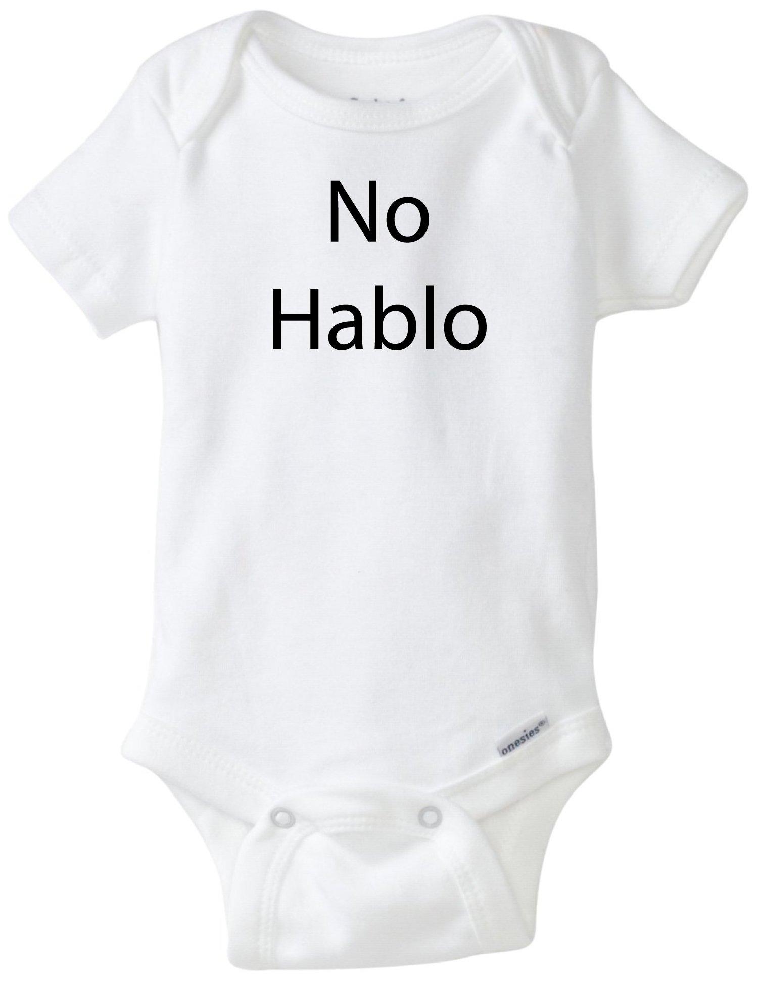 BLAKENREAG No Hablo Funny Baby Onesie Baby Boy Girl Clothes Bodysuit (6 Month)
