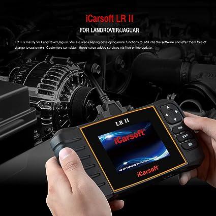 iCarsoft New Version LRII for Land Rover/Jaguar OBD2 Diagnostic Scanner  Tool Erase Fault Codes Service Reset