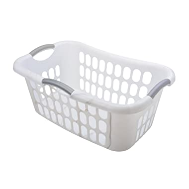 Starplast Hip Hugger Laundry Basket (2 Pack), White