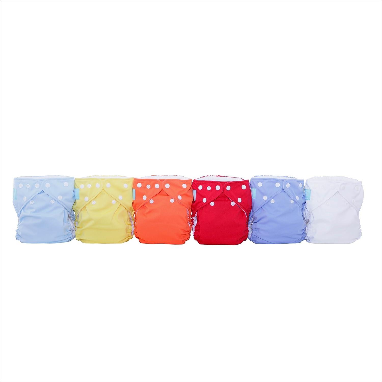 Amazon.com : 6 reutilizables Pañales 12 Inserciones Set, unisex, pequeños : Baby