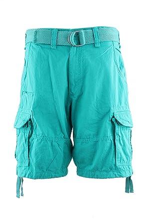 b99d863e9b4abc Jordan Craig Mens Classic Cotton Soft Casual Lose Fit Woven Belted Cargo  Shorts (30