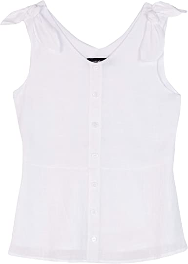 Amy Byer Girls Bow Shoulder Sleeveless Tank Top
