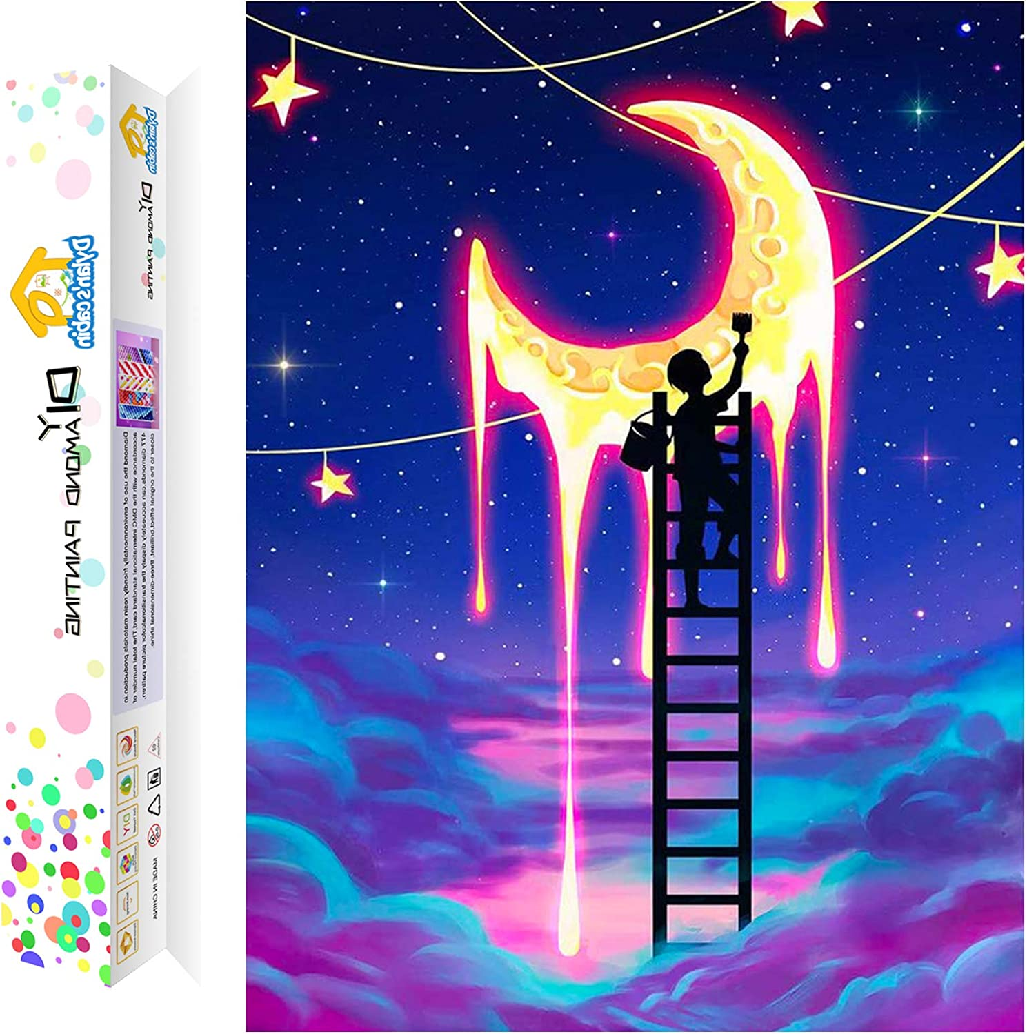 Crystal DIY 5D Diamond Painting Gift for Relaxation and Home Wall Decor Castle Offito Diamond Painting Kits for Adults Kids 12x16 inch Full Drill Diamond Art Kits for Beginners