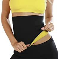 DAZIBAO® Shaper Belt Non-Tearable Tummy Trimmer Slimming Belt for Men and Women (Size M, L, XL, XXL, 3XL, 4XL) (Black)
