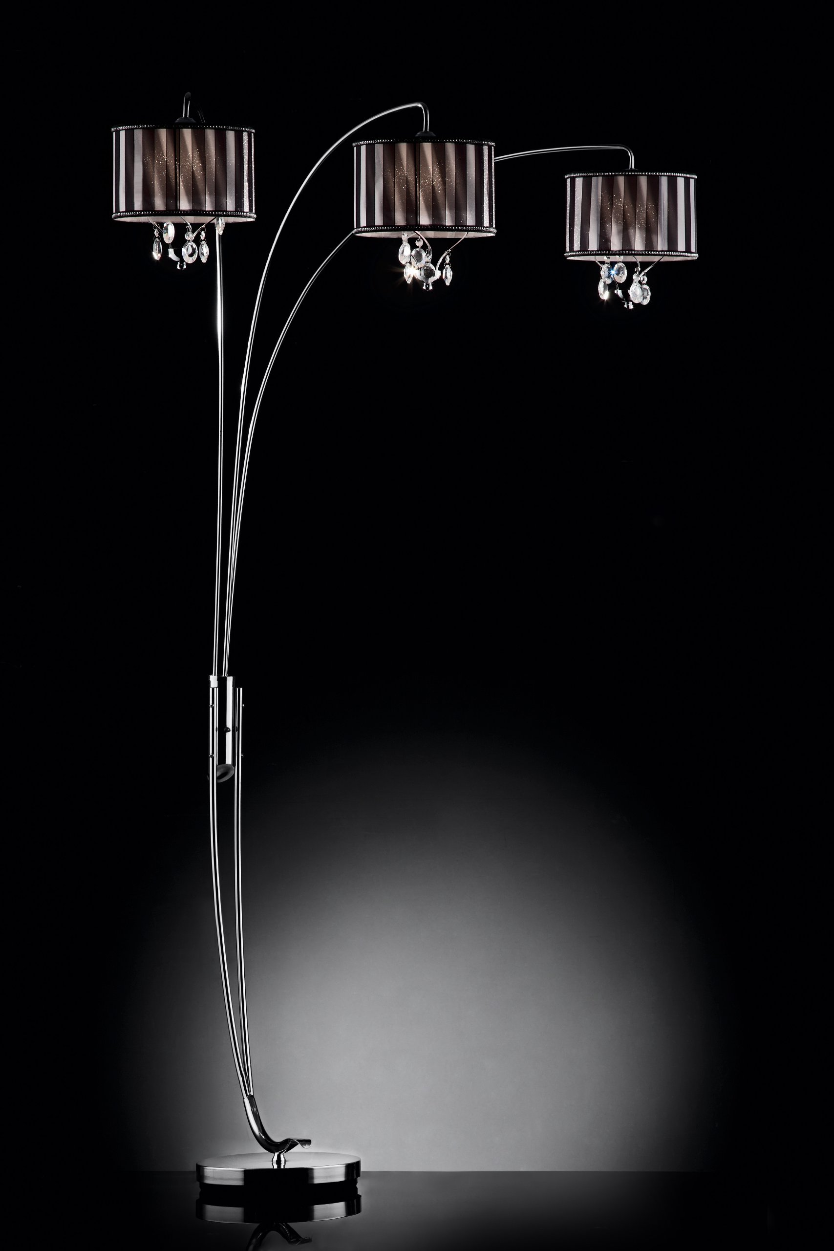 Contemporary DeCOR' 87''H Lady Crystal Arch Floor Lamp Collection by High performance parts