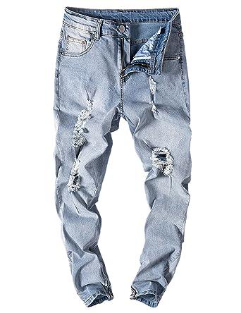 Kleidung & Accessoires Herrenmode Herren Loch Ripped jeans