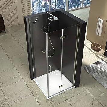 düravak cabinas de ducha esquina. Ducha Pared ducha puerta plegable Mampara 80 x 80 x195 cm: Amazon.es: Bricolaje y herramientas