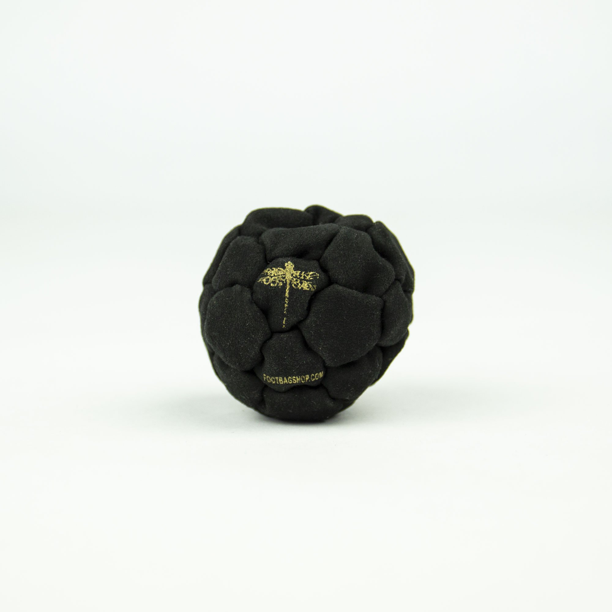 Dragonfly Footbags Mini Midnight 32 Panel Metal Filled Proseries (Hacky Sack)
