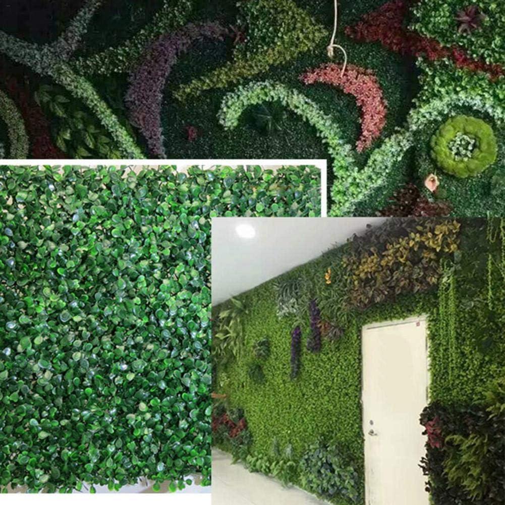 SNIIA Enredaderas Artificiales Pared Esteras para Setos Paneles De Vegetación De Imitación con Protección contra Rayos UV Tanto Decoración De La Planta De La Pared: Amazon.es: Hogar
