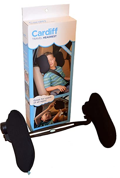 Cardiff Auto Travel Headrest w Universal Mount and Adjustable Height BL1001