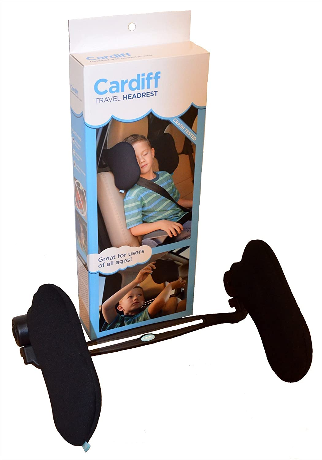 Cardiff Booster Seat Headrest, Black BL-1001