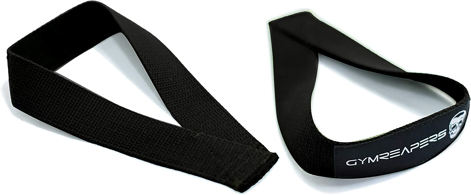 Durable Cotton with Reinforced Stitching Gymreapers Olympic Lifting Straps for Weightlifting Snatch Clean Deadlifts Strongman Powerlifting Pair