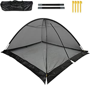 GROWNEER 8x10 Feet Pond Garden Cover Protective Net Tent Dome Netting with 4 Stakes, Storage Bag, Fiberglass Poles, Suitable for Yard, Landscape, Pond, Garden