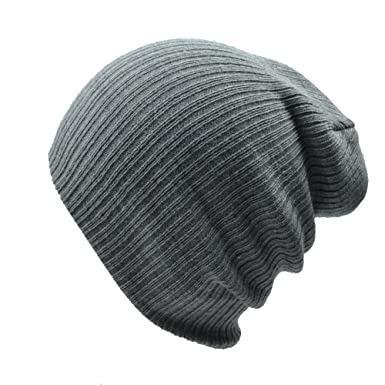 9f3feb8e9ee5df Sandy Ting Oversized Baggy Fit Slouch Beanie Beany Cap Knitted Hats (Grey):  Amazon.co.uk: Clothing