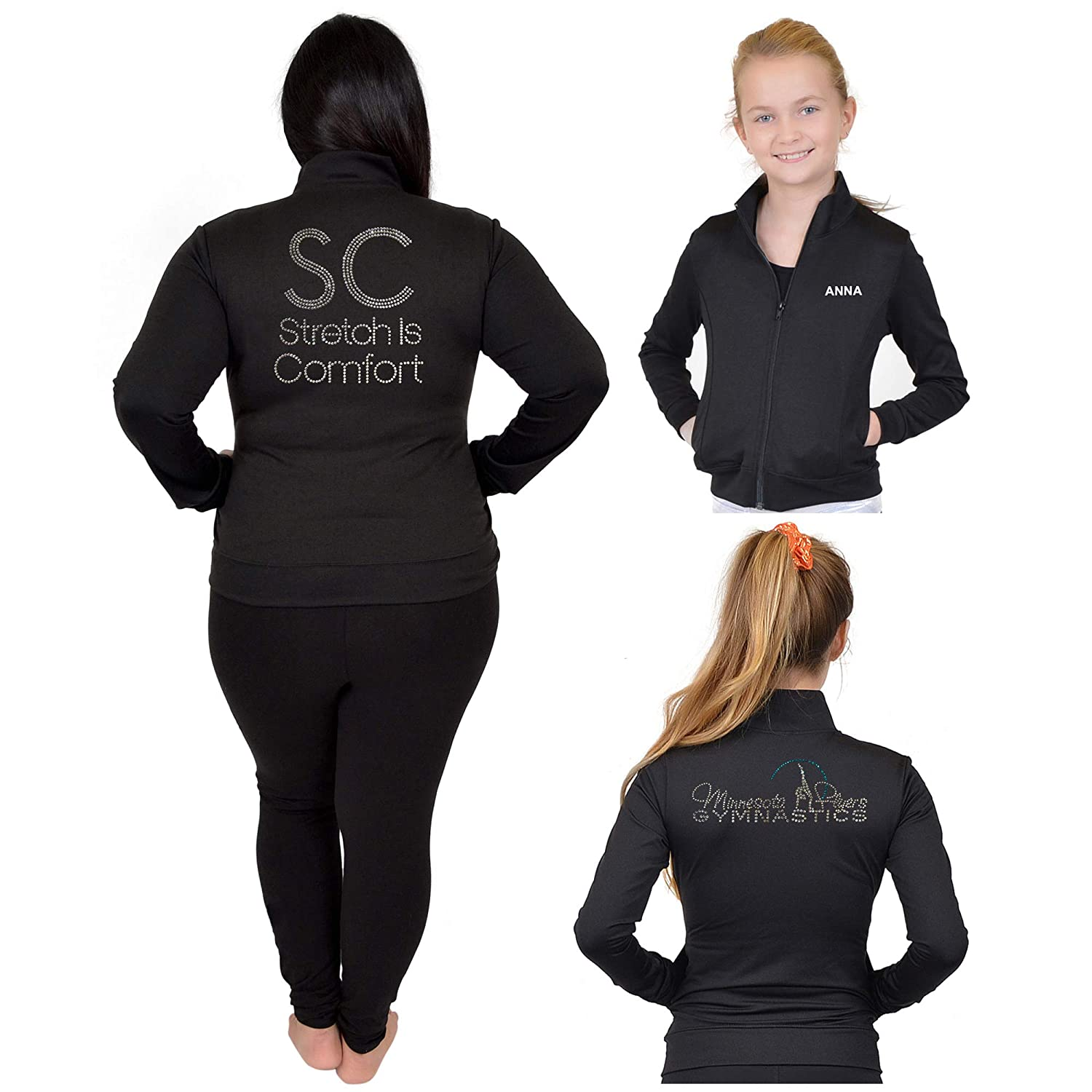 Stretch is Comfort Girls and Womens Personalizable and Customizable Jacket