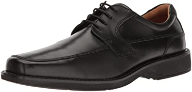 ECCO Men's Seattle Apron Toe Tie Oxford, Black/Black, 39 EU/5