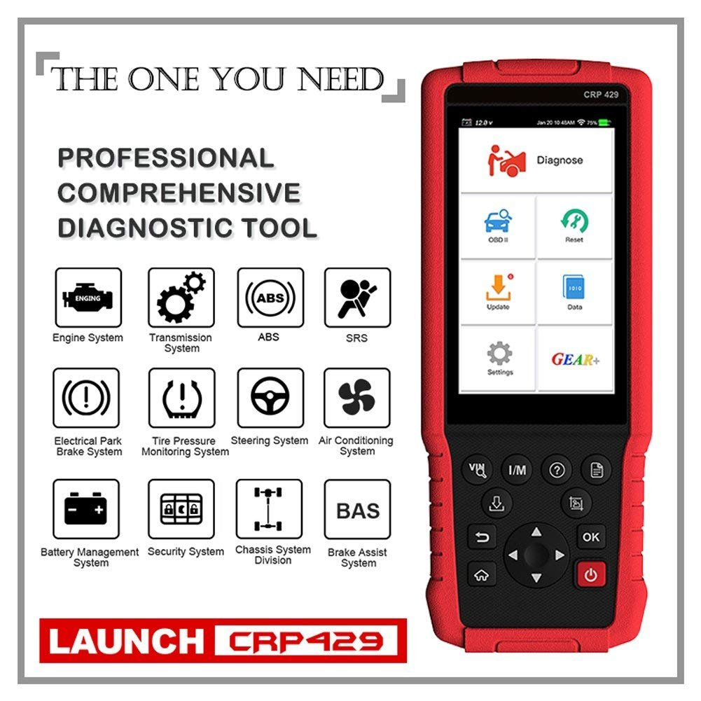 LAUNCH OBD2 Scanner CRP429 Advanced Full System Diagnostic Tool with ABS Bleeding, Injector Coding and IMMO, EPB, BMS, SAS, DPF,Oil Service Light Resets + One Year Free Update by LAUNCH (Image #4)