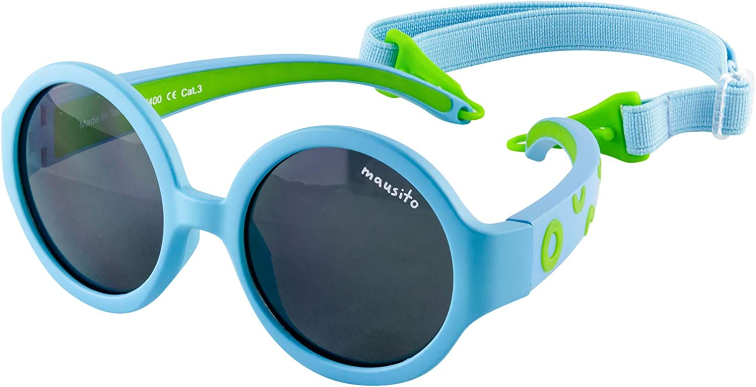 Flexible Frame Boys and Girls The Hippie 100/% UV 400 Protection Mausito Baby 1-2 Years Category 3 1 to 2 Years Sunglasses Children with Adjustable Headband