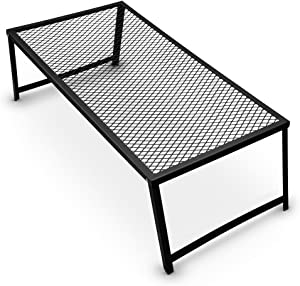 Grizzly Peak Heavy Duty Steel Mesh Over Fire Camping Grill Gate
