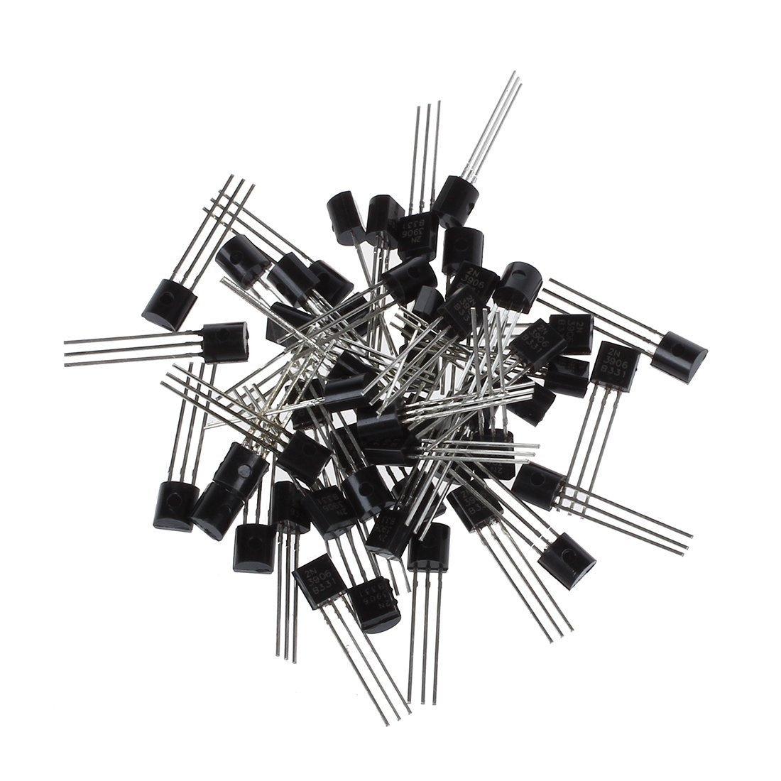 Toogoor 2n3906 3 Pins General Purpose Pnp Bipolar Kinds Of Transistors Are I Npn Transistor Ii 50 Pcs Home Improvement