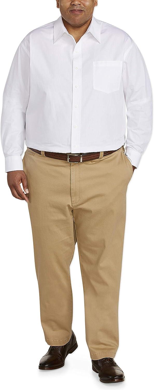 Essentials Mens Athletic-fit Casual Stretch Khaki Pant Pants