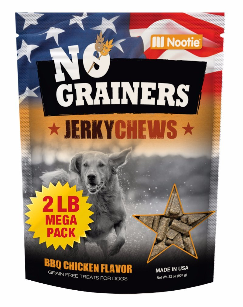 Grain Free Dog Treats and Dog Chews by Nootie No-Grainers - 2 LB Bag BBQ Chic