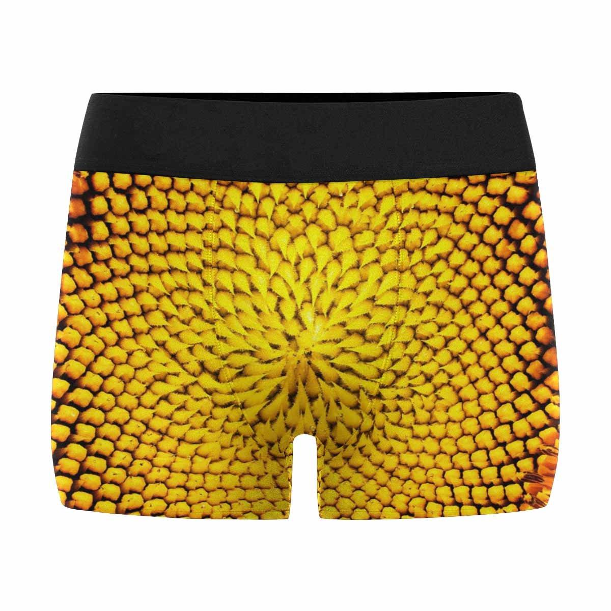 INTERESTPRINT Boxer Briefs Mens Underwear Close Up of Sunflower XS-3XL