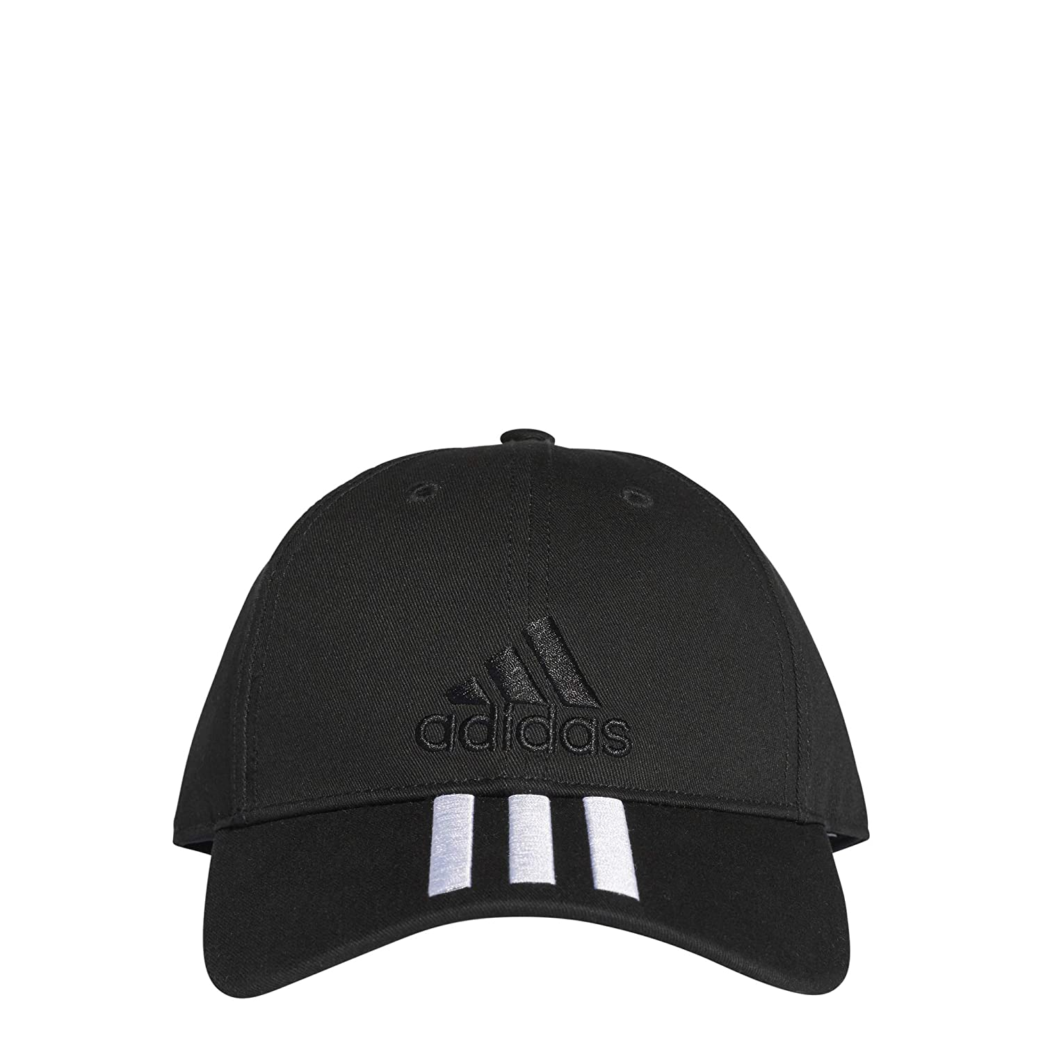 Amazon.com : Six-Panel Classic 3-Stripes Cap (OSFM, Black/White/Black) : Sports & Outdoors