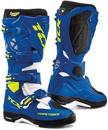 TCX 9662 Comp Evo 2 Michelin , Stivali da motocross, taglia 42, colore  Blu/Bianco Amazon.it Sport e tempo libero