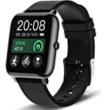 Smart Watch, Popglory Smartwatch with Blood Pressure, Blood Oxygen Monitor, Fitness Tracker with Heart Rate Monitor, Full Tou